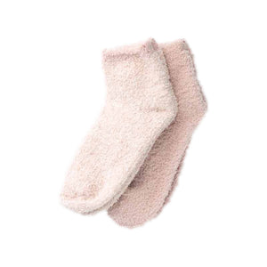 CozyChic® is 2 Pair Tennis Sock Set Size - ONE SIZE Color - Dusty Rose Multi