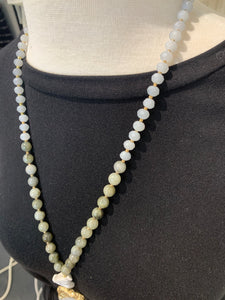 Ombré Beaded Stone Necklace