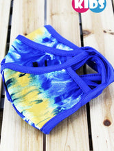 Load image into Gallery viewer, Kids Blue Tie Dye Cotton Washable Mask