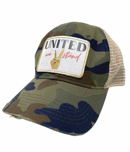 Judith March United We Stand Camo Hat