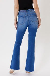 KanCan Medium Wash Double Button Flare Jeans