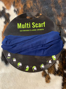 Navy Multi Face Scarf