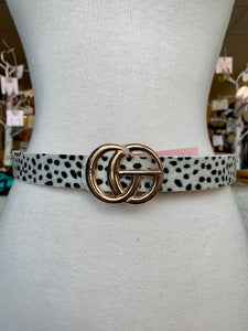 White Cheetah G Belt