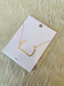 "Gold ""C"" Initial Necklace"