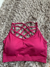 Load image into Gallery viewer, Strappy Merlot Seamless Bra