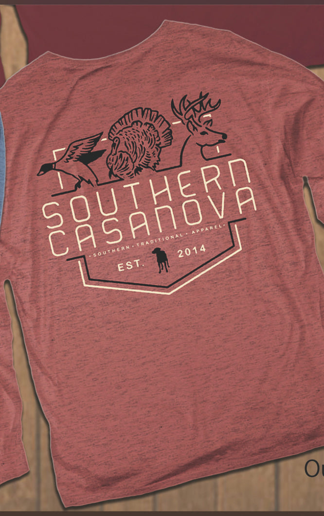 Southern Casanova Outdoorsman Life Long Sleeve Tee
