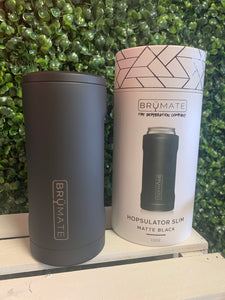 Brümate Hopsulator Slim Matte Black 12 oz Slim Cans Only