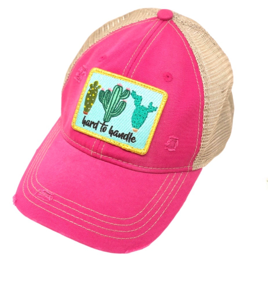 Judith March Hard To Handle Hat Pink