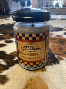Candleberry Marshmallow and Embers Large Jar