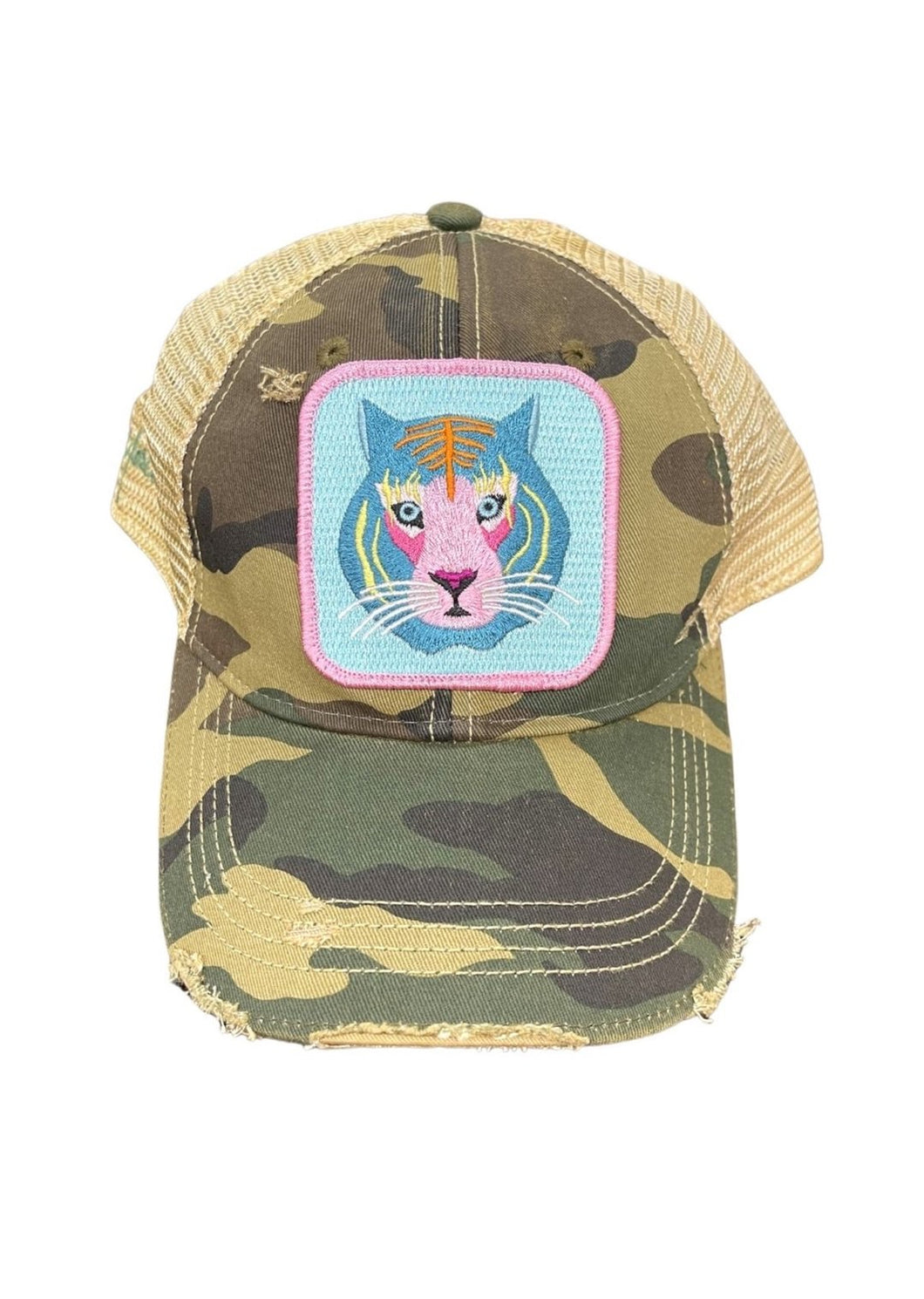 Judith March Rainbow Camo Tiger Hat