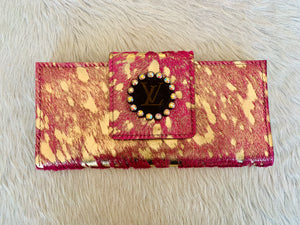 Keep It Gypsy LV Wallet - Hot Pink & Gold