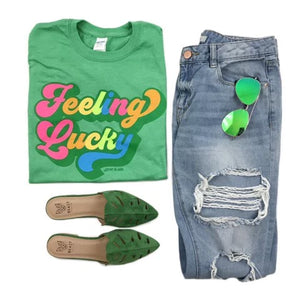 Retro Feeling Lucky Tee Shirt