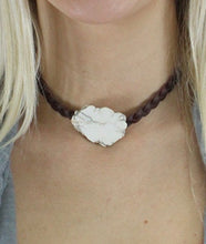 Load image into Gallery viewer, Ivory Stone Braided Choker