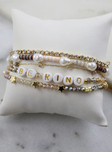 Be Kind Mixed Bead Bracelet Set