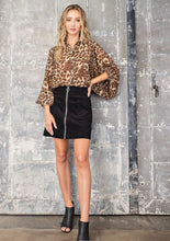 Load image into Gallery viewer, Leopard Print Button Down Blouse