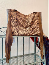 Load image into Gallery viewer, Keep It Gypsy Stella LV Tote Bag - Leopard & Alligator Hide
