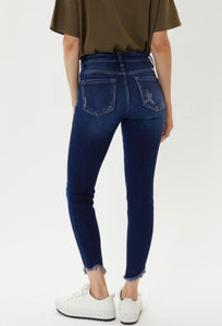 High Rise Ankle Skinny Dark Wash