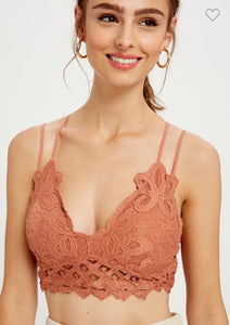 Brick Red Lace Bralette