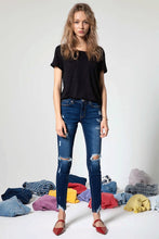 Load image into Gallery viewer, Kan Can Mid Rise Distressed Super Skinny Jeans