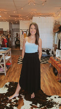 Load image into Gallery viewer, Black Smocked Maxi Skirt