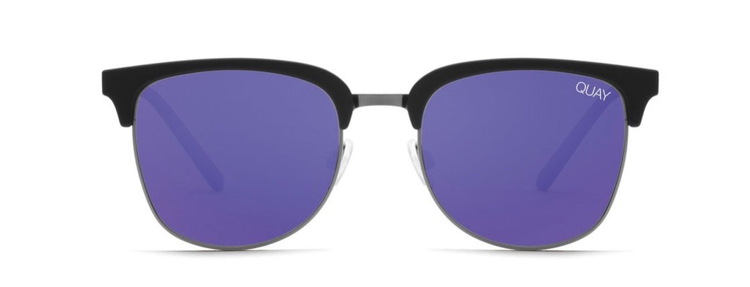 Quay Evasive Black & Navy Polarized Sunglasses
