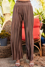 Load image into Gallery viewer, Better Latte Than Never Mocha Pleated Palazzo Pants