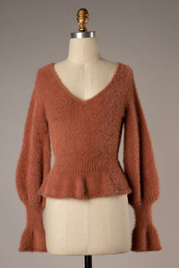 Let's Be Chic Sweater - Wood Rose