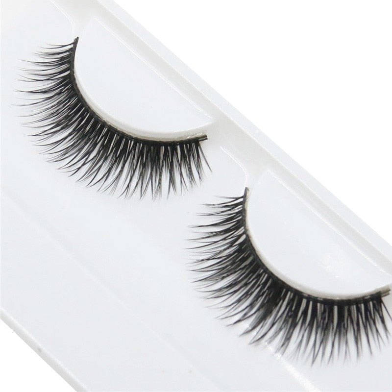 Eyelashes Cross Thick False Eye Lashes Extension Makeup Super