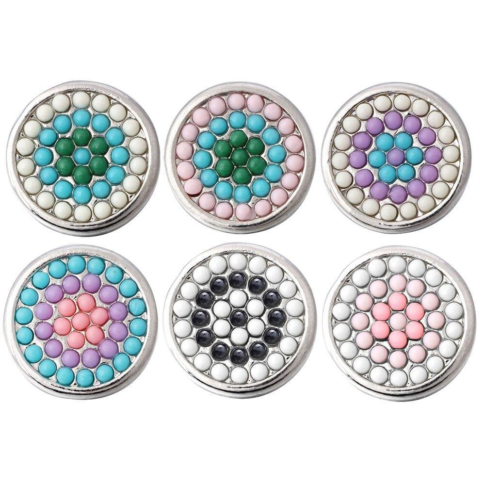 18mm Snap Jewelry Flower Round Metal Snap Buttons - nejomisfindings