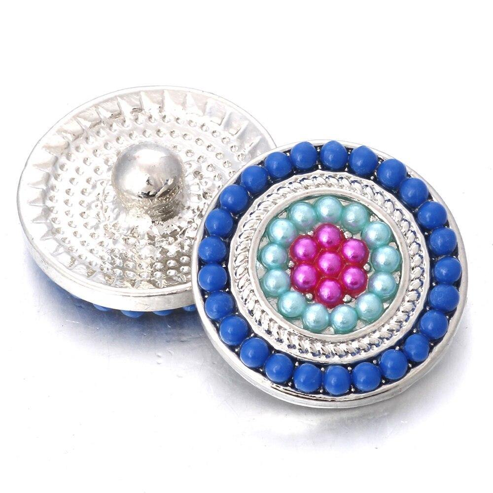 Snap Jewelry Beads Flower Snap Buttons Metal Colorful 18mm Snap Button Jewelry - nejomisfindings