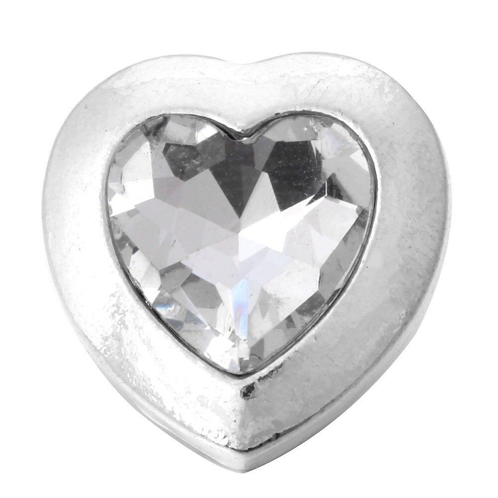 Snap Jewelry 18mm Snap Buttons High Quality Rhinestone Heart - nejomisfindings
