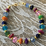 Handmade Beaded Bracelets Goldtone