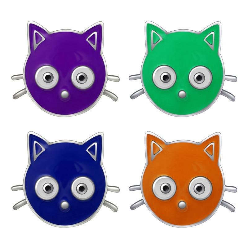Trendy Lovely Colorful Cat Snap Buttons Fits 18mm Snap Jewelry - nejomisfindings