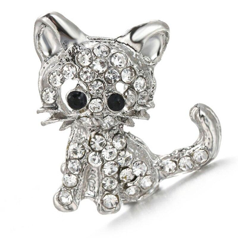 Rhinestone Kittens Cats Metal 18mm Snap Buttons - nejomisfindings