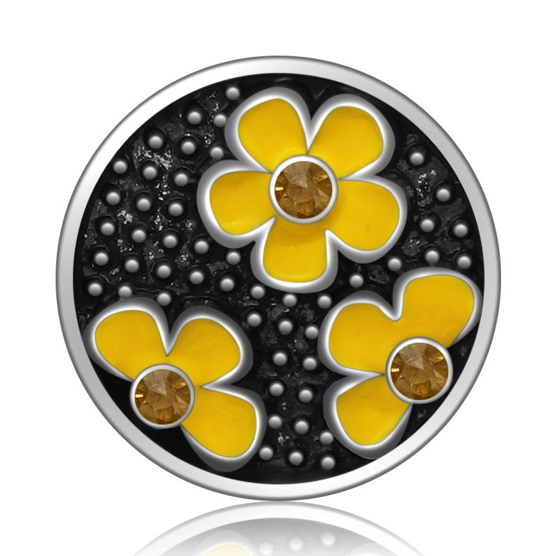 New Beauty Trendy Round Flowers 18mm Snap Buttons - nejomisfindings
