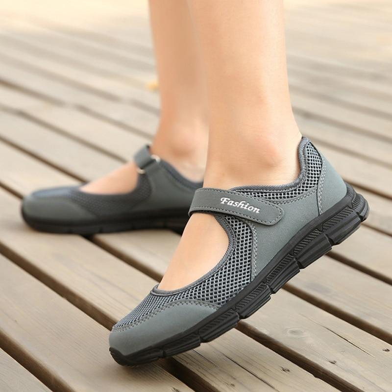 Mesh Flat Women Soft Breathable Sneakers Casual Shoes - nejomisfindings