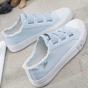 Sneakers Canvas Shoes for Women Tennis Elastic Shoes