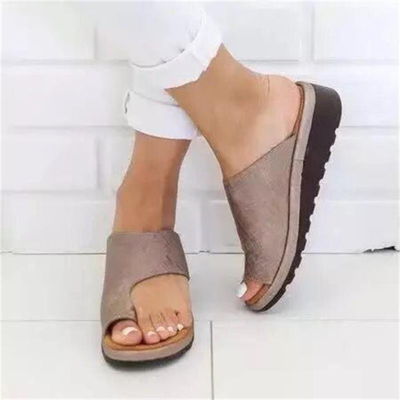 Women Sandals Comfy Casual Flat Platform Big Toe Foot Sandals