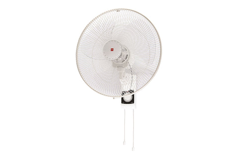 KDK KU453 (45cm/18″) White Wall Fan with Clear Plastic Blade