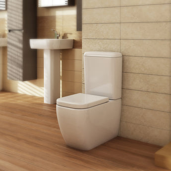 Essence Close Coupled Toilet & Cistern Inc Soft Close Seat - GWP Bathrooms