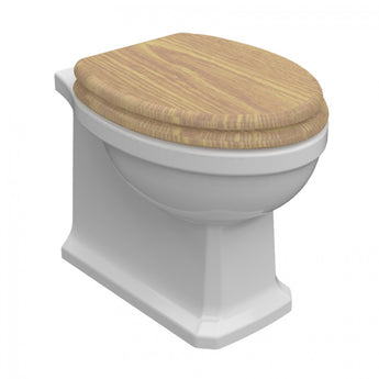 Wyndham Traditional Back to Wall Toilet with Seat - GWP Bathrooms