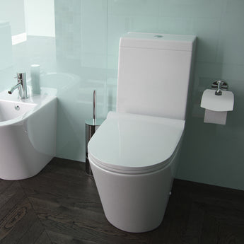 Arco Close Coupled Toilet & Cistern Inc Soft Close Seat Open Back 660mm - GWP Bathrooms