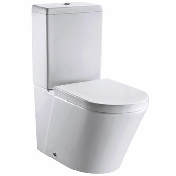 Pura Arco 660mm Rimless Close Coupled Toilet & Cistern Inc Soft Close Seat - GWP Bathrooms