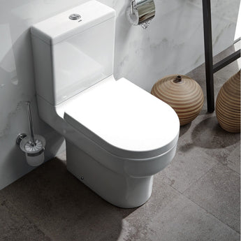 Duro Close Coupled Open Back Toilet & Cistern Inc Soft Close Seat - GWP Bathrooms