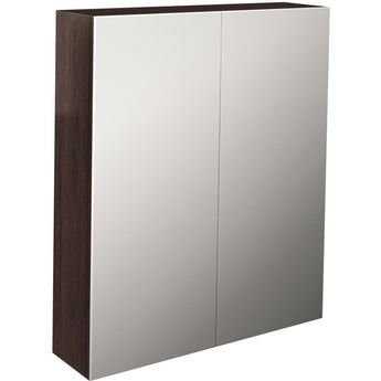 Echo 600mm Double Door Mirror Cabinet (Wenge/Soft Oak/White Gloss) - GWP Bathrooms