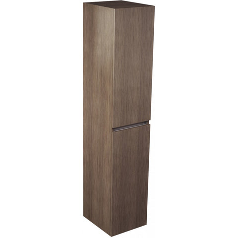 Echo Double Door Tall Storage Unit 1500mm (Wenge/Soft Oak/White Gloss) - GWP Bathrooms