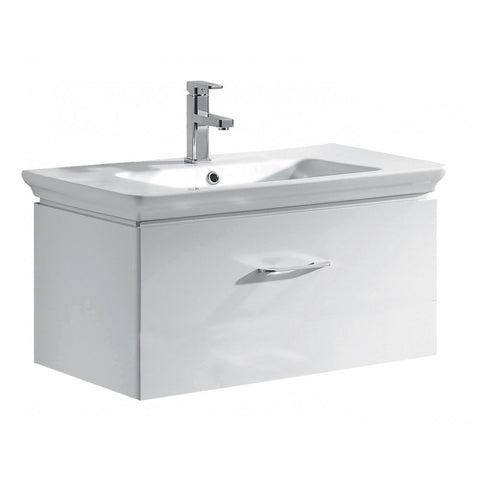 Essence 800mm Single Drawer Wall Mounted Vanity Unit & Basin - GWP Bathrooms