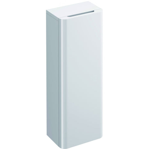 Flite Single Door Storage Cabinet 800mm White Gloss - GWP Bathrooms