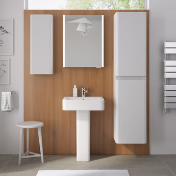 Suburb 450mm  One Tap Hole Cloakroom Basin & Full Pedestal - GWP Bathrooms