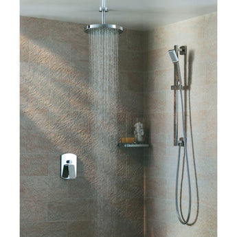 Round Ceiling-Mounted Shower Arm 200mm - GWP Bathrooms